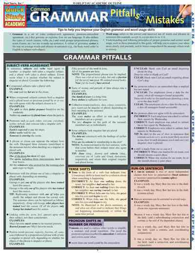 Common Grammar Pitfalls & Mistakes By Barcharts, Inc. (COR)